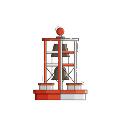 Sea bell buoy vector