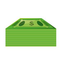 Isolated green money bills vector