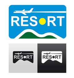 Travel and resort logo vector