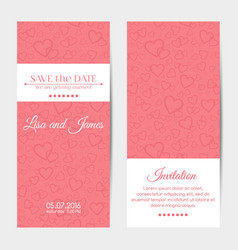 Vertical wedding invitation cards template vector