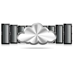 Servers Cloud Computing vector image