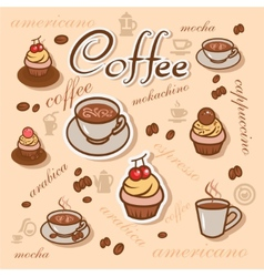Coffeeart background vector
