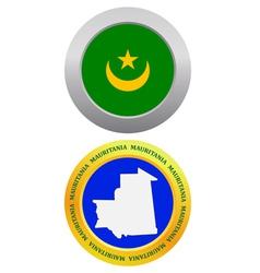Button as a symbol mauritania vector