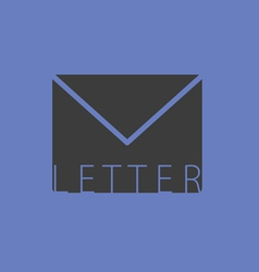 Letter envelope illutration on blue vector