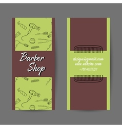 BarberCards vector image
