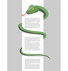 Snake wraps around with space for text re vector