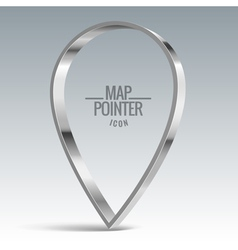 Map pointer sign vector image