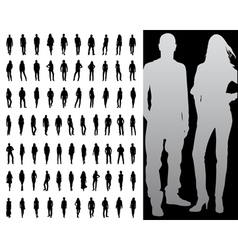 Fashion silhouette collection vector