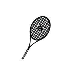 A tennis racquet and a ball icon vector