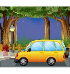 A yellow car vector image vector image