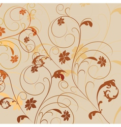 Abstract Natural floral ornament vector image vector image