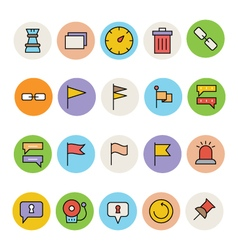 Basic colored icons 3 vector