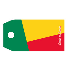 benin flag on price tag vector image vector image