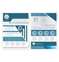 Brochure design template front page and vector