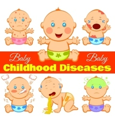 Childhood diseases background vector