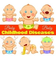 Childhood Diseases Background vector image