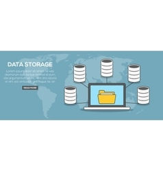 Data storage concept banner vector image vector image
