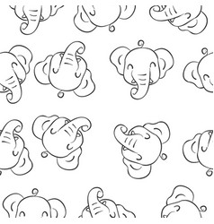doodle of elephant animal style vector image vector image
