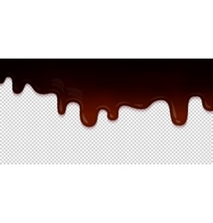 Flowing chocolate glaze isolated vector image