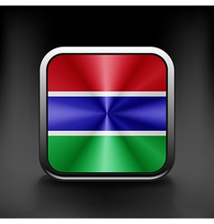 Gambia icon flag national travel icon country vector image vector image