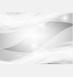 gray and white wave abstract background graphic vector image vector image