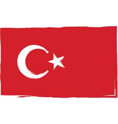 grunge turkey flag or banner vector image