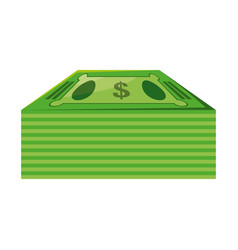 Isolated green money bills vector