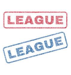 League textile stamps vector