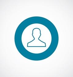 male icon bold blue circle border vector image vector image