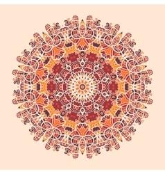 Mandala print round ornamental symmetry pattern vector