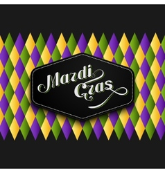 Mardi Gras or Shrove Tuesday lettering label vector image