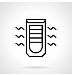 Mobile air conditioning black line icon vector