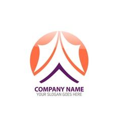 Mountain Peak Logo Icon Template vector image vector image