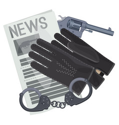 professional detective accessories for crime vector image vector image