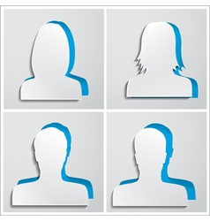 Set of paper avatars vector image