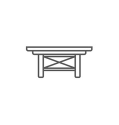 small table isolated icon in linear style vector image vector image