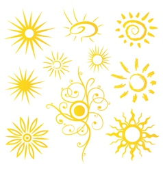 Sun sunshine weather vector