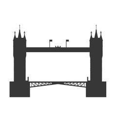 Tower bridge icon united kingdom design vector