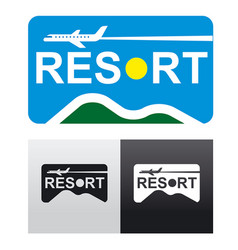 Travel and resort logo vector