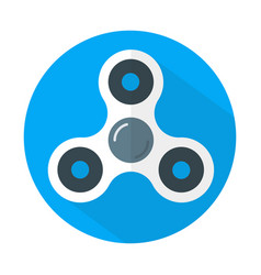 White fidget spinner icon flat style vector