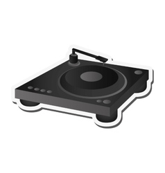 Small turntable icon vector