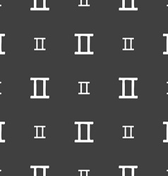 Gemini sign seamless pattern on a gray background vector