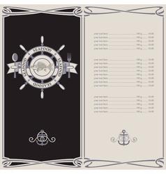 menu pirates vector image