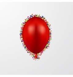 Modern ballon with confetti on white vector