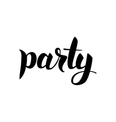 Party black calligraphy vector