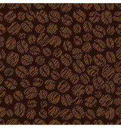 Coffee bean seamless pattern vector image
