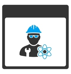 Atomic engineer calendar page toolbar icon vector