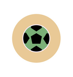 Stylish icon in color circle soccer ball vector