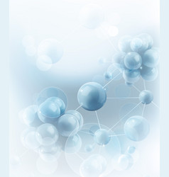 Molecules and atoms science background vector