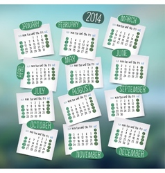Calendar design english vector